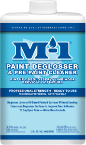 M-1 PAINT DEGLOSSER & PRE-PAINT CLEAN...